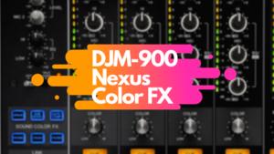 Pioneer DJM900エフェクト トップ画像